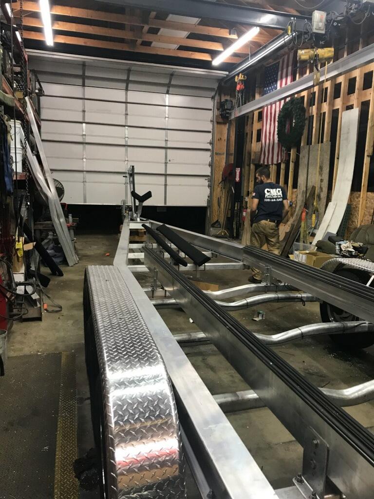 Aluminum I Beam Boat Trailers Cmg Custom Trailers Inc