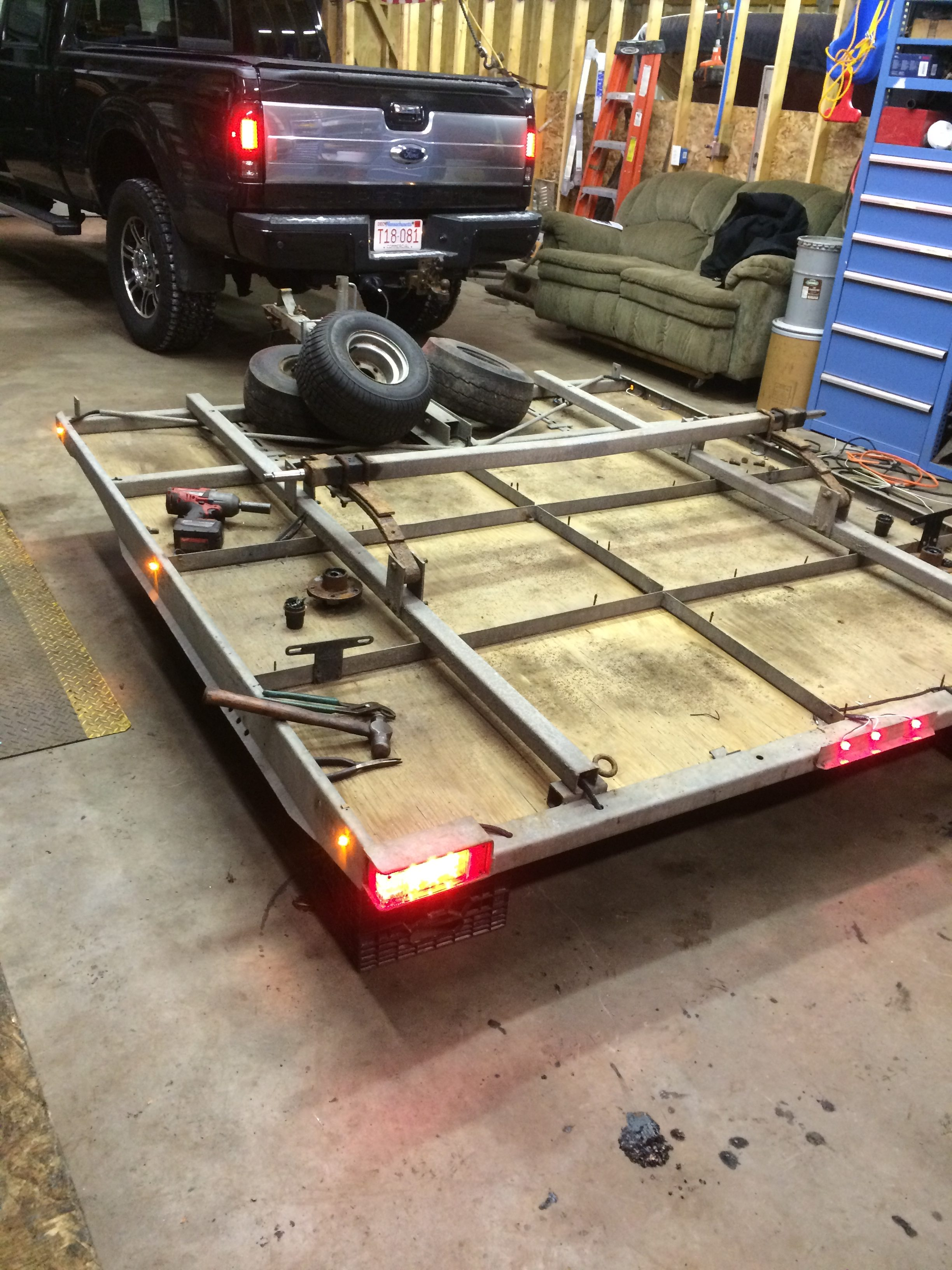 Snowmobile Trailer Tune Up Cmg Custom Trailers Inc Wiring A New Led Lights And